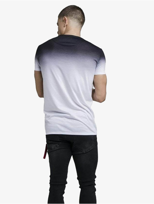 Sik Silk T-skjorter High Fade Embroidery Gym svart