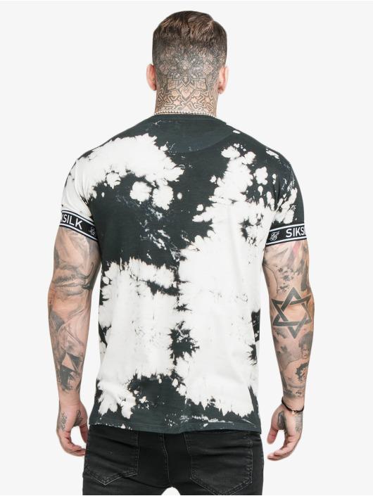 Sik Silk T-skjorter Tie Dye Cuff svart