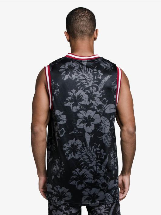 Sik Silk Tank Tops Status Hawaii Basketball čern
