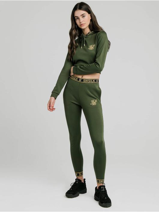 Sik Silk tepláky Taped zelená
