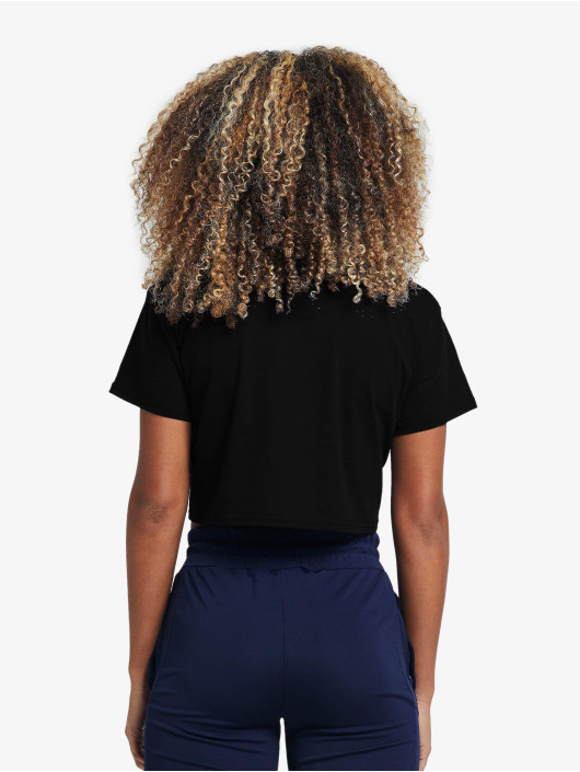 Sik Silk top Retro Box Fit zwart