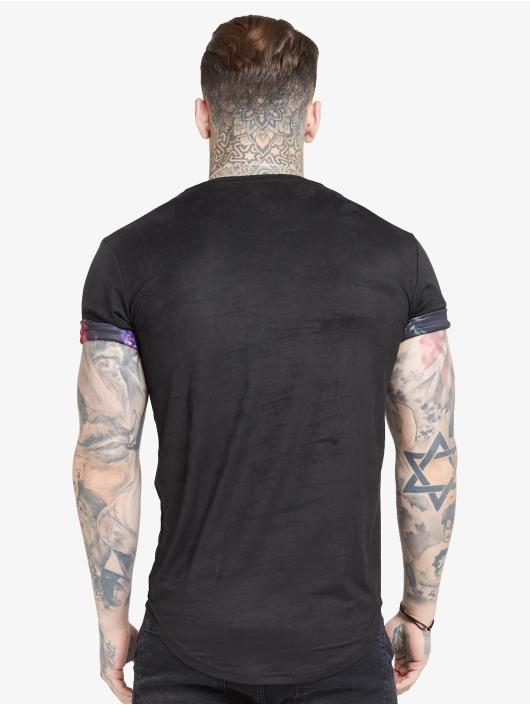 Sik Silk Tričká Roll Sleeve èierna