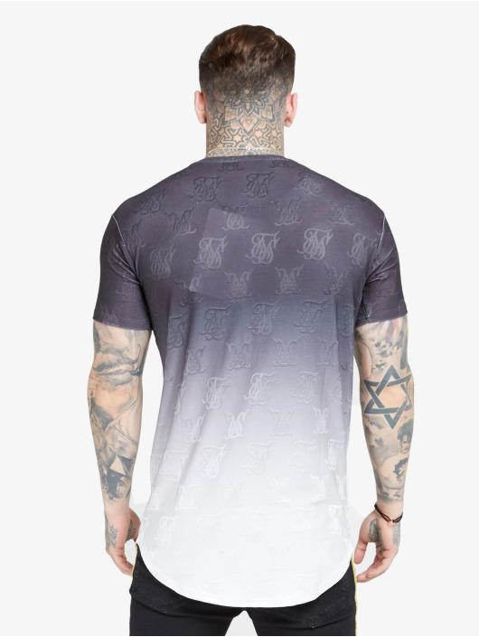 Sik Silk Tričká Monogram Fade Gym èierna