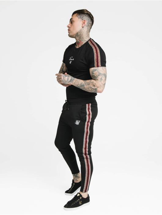 Sik Silk Tričká Raglan Gym èierna