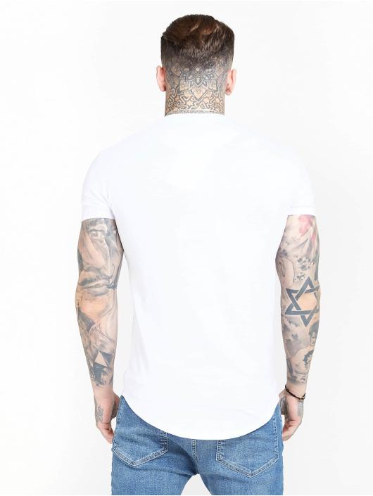 Sik Silk Tričká Core Gym biela