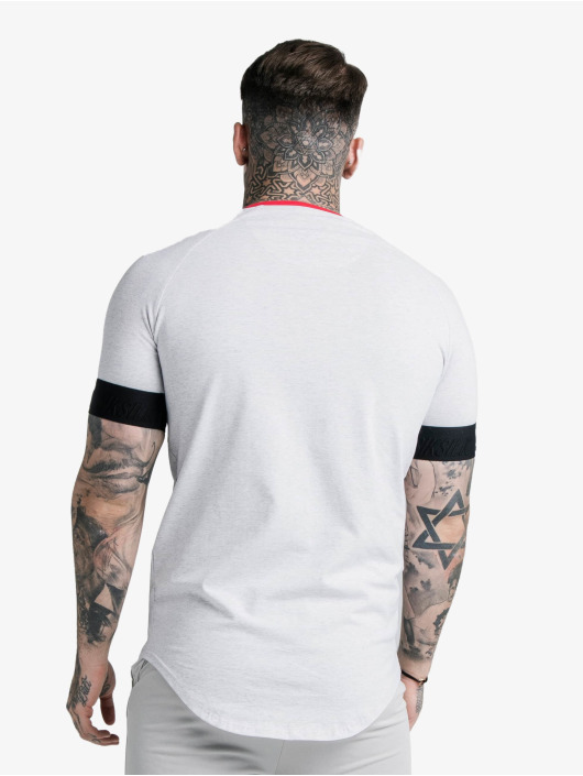Sik Silk Tričká S/S Deluxe Ringer Tech biela