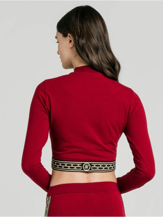 Sik Silk Tričká dlhý rukáv Cartel Crop èervená