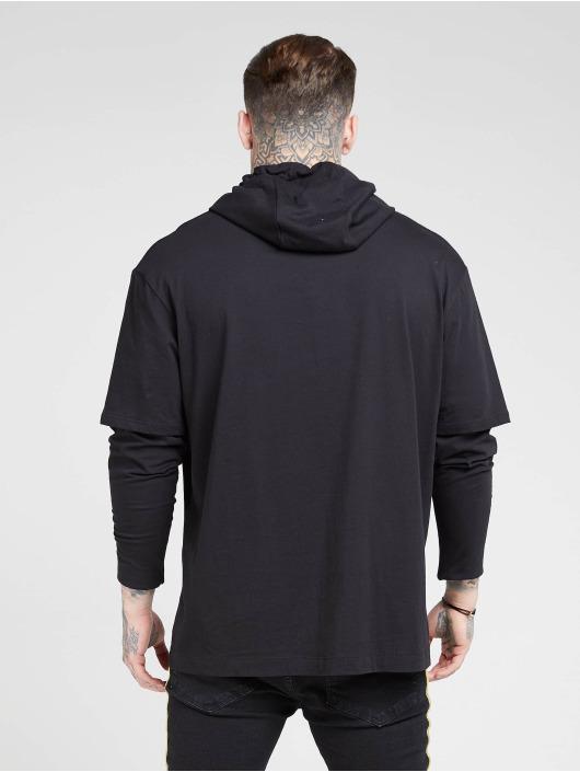 Sik Silk Tričká dlhý rukáv Essential Undergarment Cuff èierna