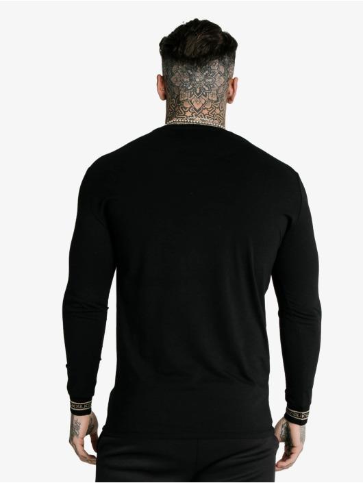 Sik Silk Tričká dlhý rukáv Element Hem Gym èierna