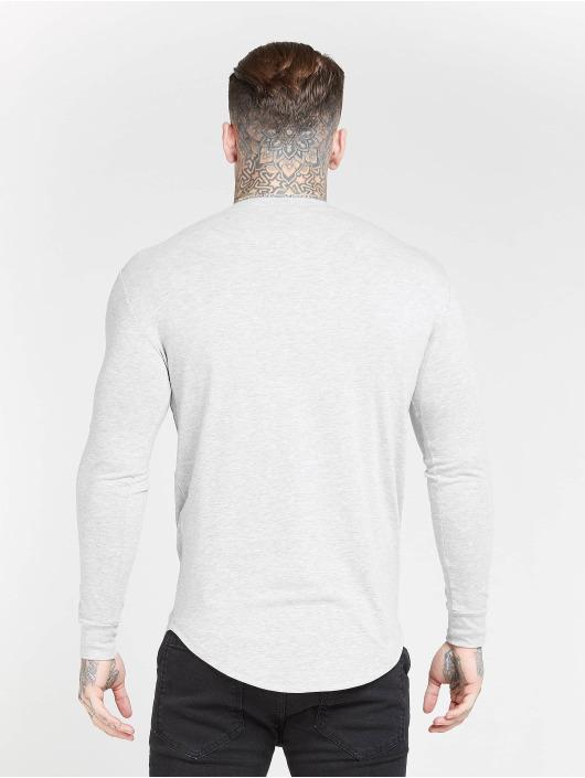 Sik Silk Tričká dlhý rukáv Core Gym šedá