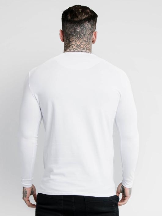 Sik Silk Tričká dlhý rukáv Hem Gym biela