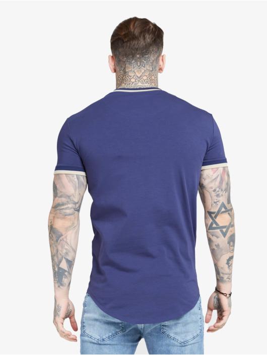 Sik Silk Tričká Rib Gym modrá