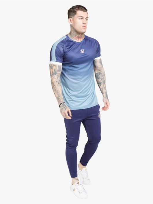 Sik Silk Tričká Raglan Fade Straight Hem modrá