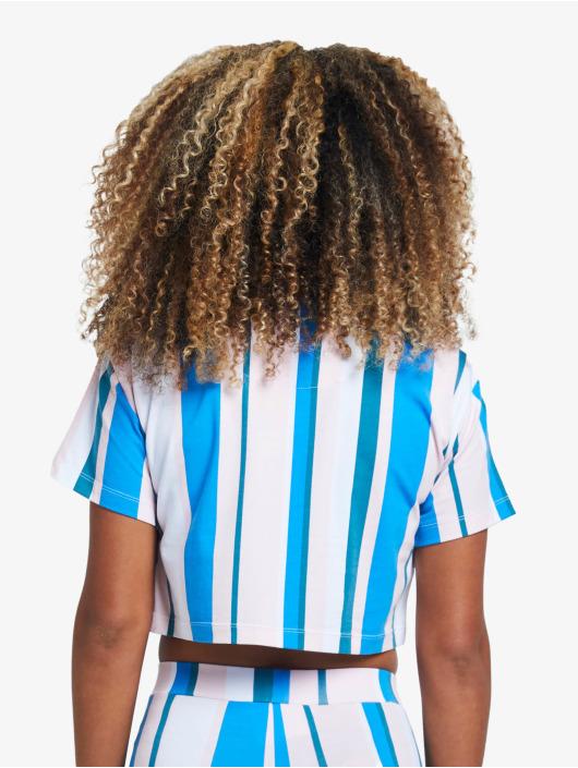 Sik Silk Tričká 90's Stripe Crop modrá