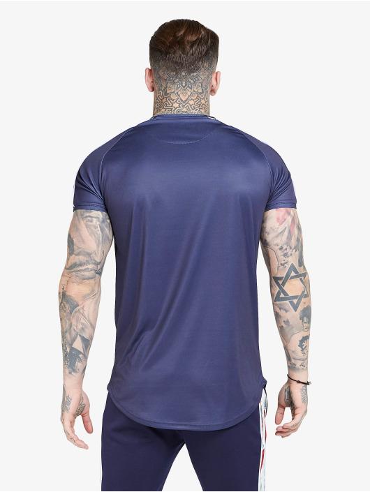 Sik Silk Tričká S/S Curved Hem Raglan modrá