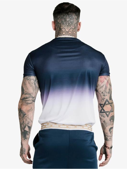 Sik Silk Tričká Fade Inset Tape Gym modrá