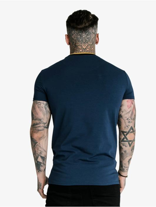 Sik Silk Tričká Hem Gym modrá