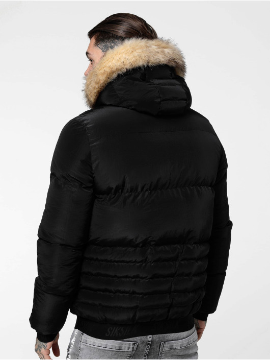 Sik Silk Winter Jacket Distance black