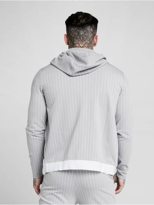 Sik Silk Zip Hoodie Dual Stripe Agility grau
