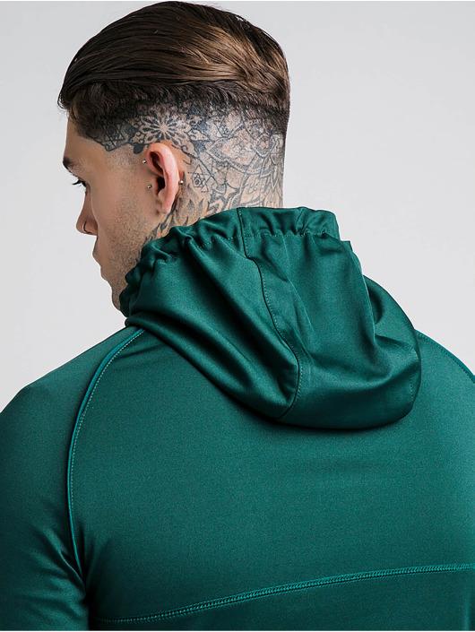 Sik Silk Zip Hoodie Through Zonal grün