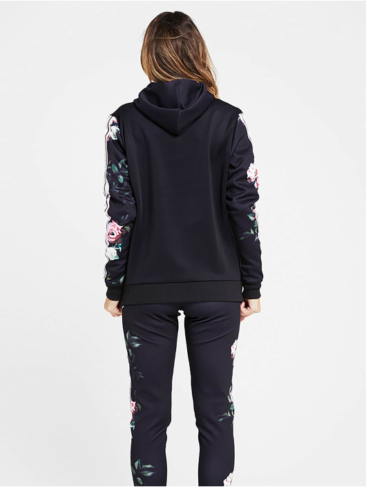 Sik Silk Zip Hoodie Oil Piant Poly schwarz