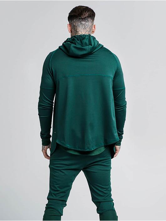 Sik Silk Zip Hoodie Through Zonal zelená
