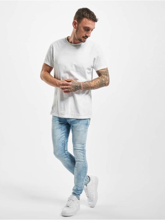 Sixth June Облегающие джинсы Light Washed синий