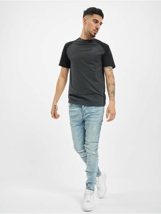 Sixth June Облегающие джинсы Destroy Relaxed Denim синий