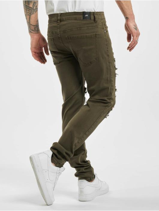 Sixth June Облегающие джинсы Destroyed хаки
