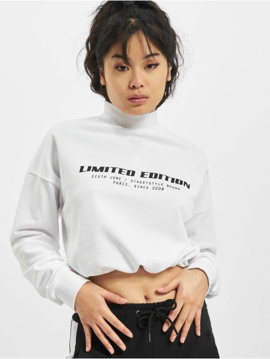 Sixth June Пуловер Limited Edition Cropr белый