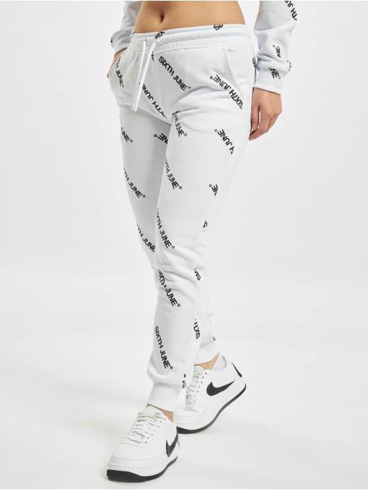 Sixth June Спортивные брюки Overall Print белый