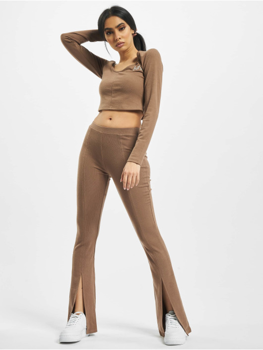 Sixth June Спортивные брюки Ribbed V2 коричневый
