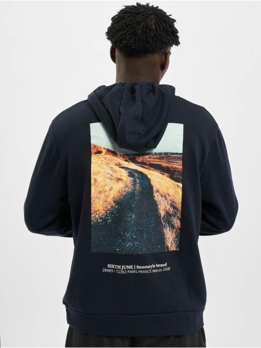 Sixth June Bluzy z kapturem Desert Road niebieski
