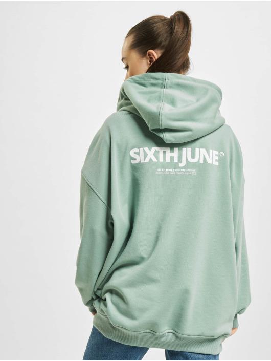 Sixth June Bluzy z kapturem Basic zielony