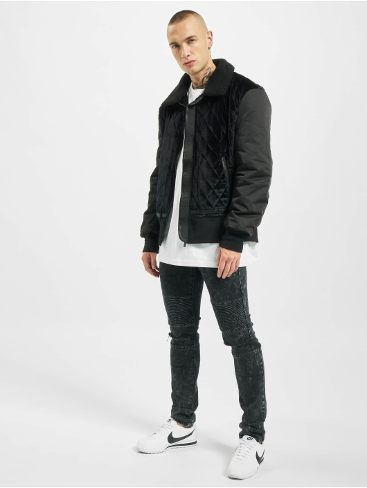 Sixth June Bomber jacket Bi-Material black