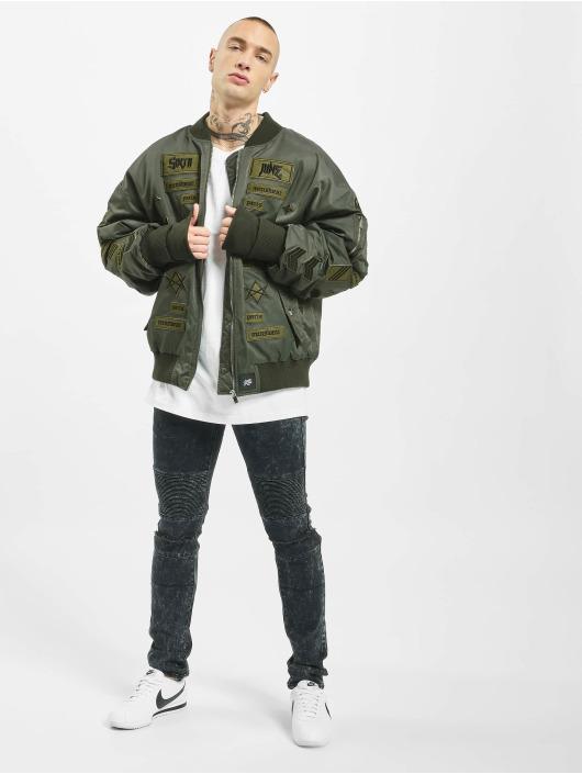 Sixth June Bomber jacket Patches khaki