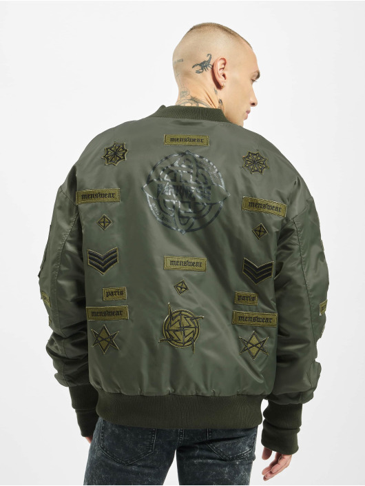 Sixth June Bomberjacke Patches khaki
