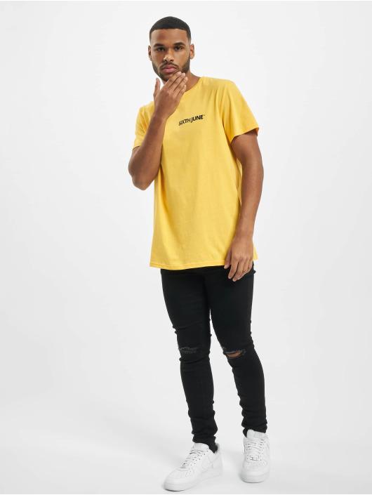 Sixth June Camiseta Two Front Side amarillo