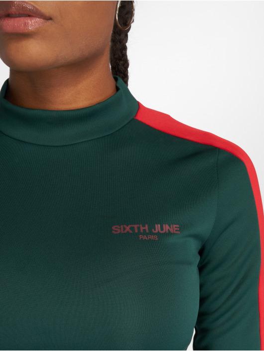 Sixth June Camiseta de manga larga Fit Cropped verde