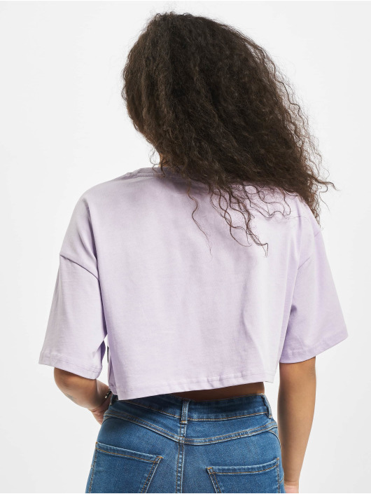 Sixth June Camiseta Elastic Crop púrpura