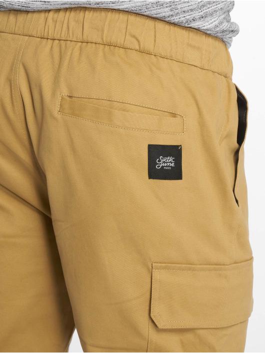 Sixth June Cargohose Jogger beige