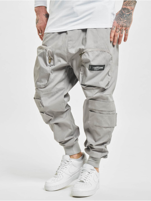 Sixth June Cargohose Front Zip Pocket grau