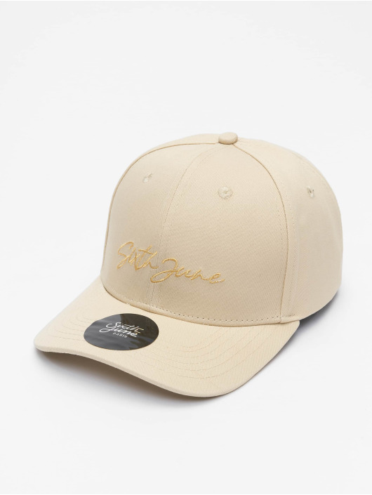 Sixth June Casquette Snapback & Strapback Signature Velvet Logo beige