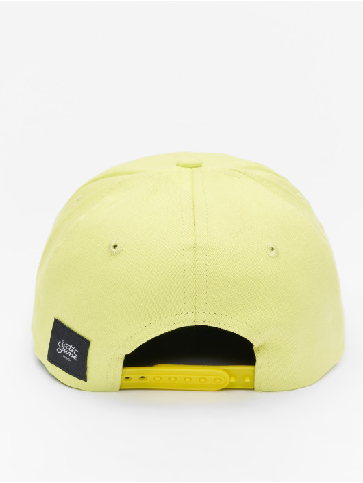 Sixth June Casquette Snapback & Strapback Curved Logo jaune