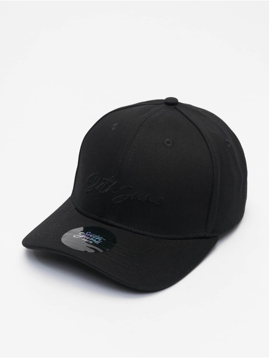 Sixth June Casquette Snapback & Strapback Signature Velvet Logo noir