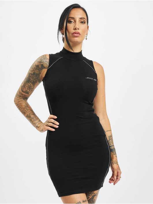 Sixth June Dress With Reflective Piping black