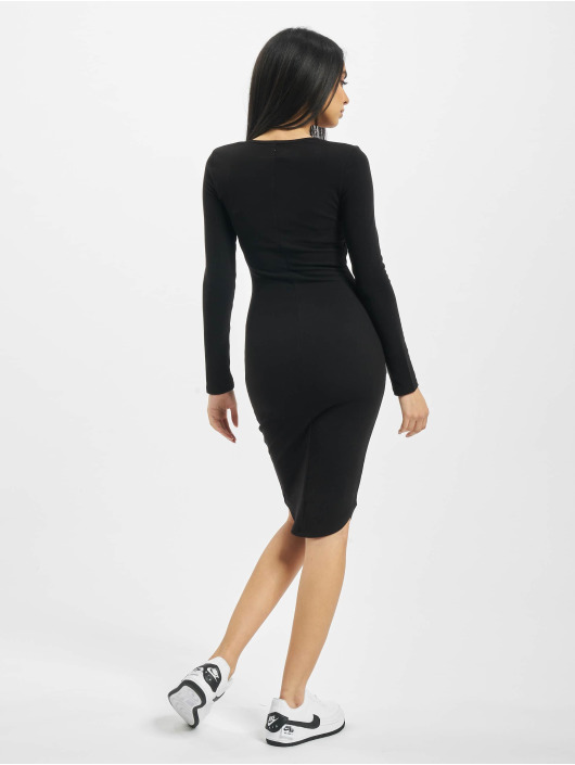 Sixth June Dress Ribbed V2 black