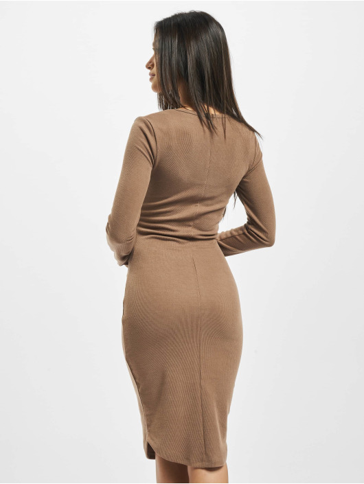 Sixth June Dress Ribbed V2 brown