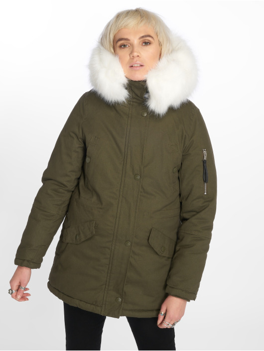 Sixth June Giacca invernale Oversize With Fake Fur Hood cachi