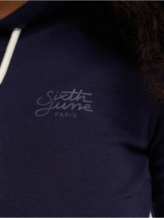 Sixth June Hoodie Cropped blå